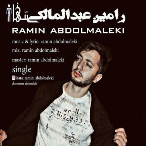 دانلود آهنگ تنها رامین عبدالمالکی