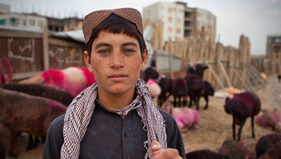 افغانی غمگین